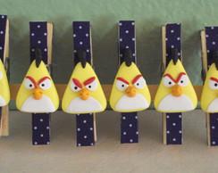 Pregadores com Apliques dos Angry Birds