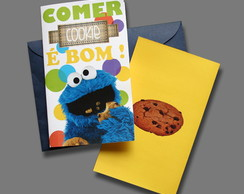 Cart�o Cookie Monster