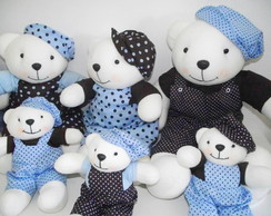 Urso azul e marrom