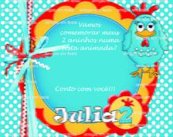 Convite 10 x 12cm - Galinha Pintadinha