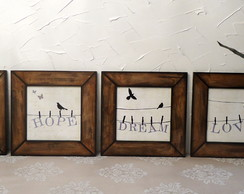 Mod8. Kit 4 Quadros Birds