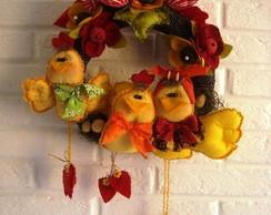 Molde Enfeite de porta de passarinhos