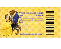 Convite de Anivers�rio A Bela e a Fera
