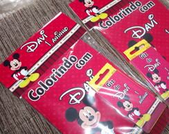 Kit Colorir Mickey com Lapela