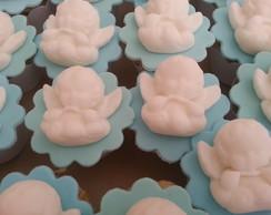 Mini Cupcake Decorado Em Pasta