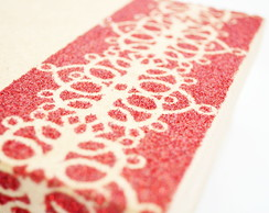 Caixa Glitterinada - Vermelha