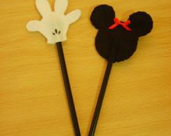 L�pis com ponteira Mickey e Minnie