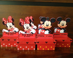 Mickey e Minnie Enfeite de Mesa