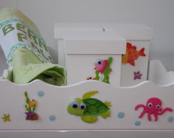 KIT MDF HIGIENE - FUNDO DO MAR