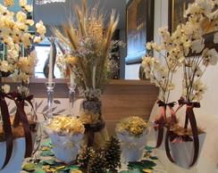 kit festa flores secas palha & marrom I