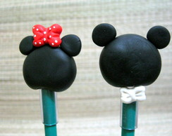 Ponteira de l�pis do Mickey e Minnie