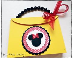 Convite Bolsinha 3D - Minnie