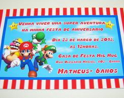 "Convite ""Mario Bros"""