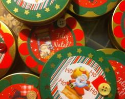 Latinha com vela perfumada - Natal