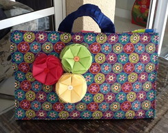 BOLSA CUSTOMIZADA FLORES AL�A LARGA