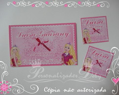 Kit Etiqueta Escolar BARBIE ESCOLA PRINC