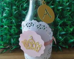 Garrafinha retr� decorada princesa