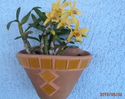 Vaso de parede com mosaico (tam. P)