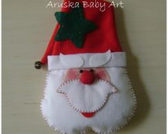 Papai Noel para porta em feltro