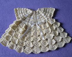 Vestido em croch�-moda ver�o beb�