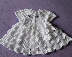 Vestido em croch� - moda ver�o beb�