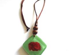 Colar Cubo P�tala           - Green-1.1)