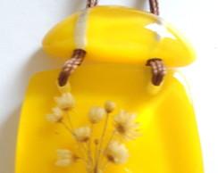 Colar Cubos Flores Bouquet    Yellow-1.1