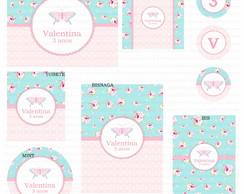 Kit digital Borboletas proven�al floral