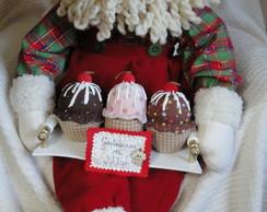 Papai Noel com cupcakes