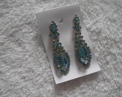 Brinco estilo indiano cristais azuis