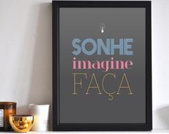 Poster Sonhe Imagine Fa�a