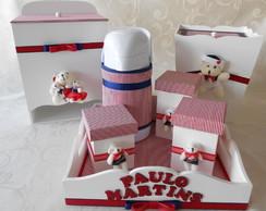 Kit higiene e garrafa t�rmica Marinheiro