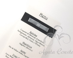 Menu/Card�pio em Color Plus com la�o