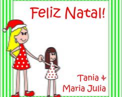 Cart�o DE - PARA Natal - caricatura