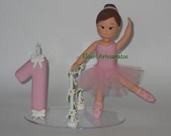 Topo de bolo bailarina com vela