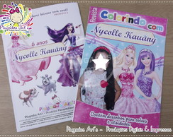 Revista Colorir Barbie