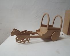 Mini carro�a em mdf