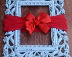 Faixa- meia de seda la�o vermelho