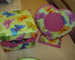 Kit borboletas- Verde e Rosa