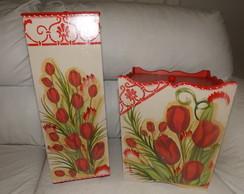 kit banheiro tulipas