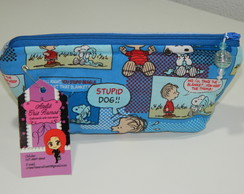 N�cessaire Pequena Snoopy Azul