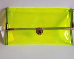 1436 - Bolsa carteira plástica limão