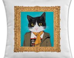 capa de almofada gato gui