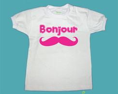 T-Shirt Beb� e Infantil BONJOUR