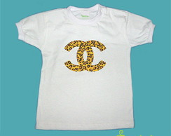 T-Shirt Beb� e Infantil CHANEL ON�A