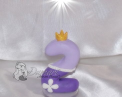 Vela Topo de Bolo Princesa Sofia