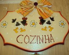 PLACA COZINHA-GALINHAS