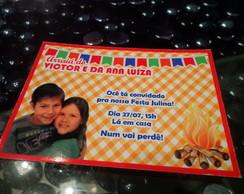 Convite Tema Festa Junina/Julina