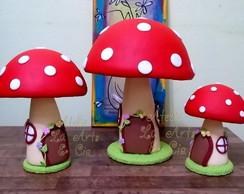 Trio de cogumelos para loca��o