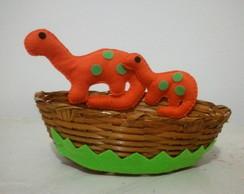 cesta vime tema dinossauros